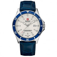 Buy Swiss Military 06-4161-7-04-001-03 Swiss Flagship Blue Genuine Leather Gents Watch online