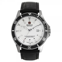 Buy Swiss Military 06-4161-7-04-007 Swiss Flagship Black Genuine Leather Gents Watch online