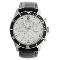 Buy Swiss Military 06-4183-04-001-07 Swiss Flagship Chronograph Black Genuine Leather Gents Watch online