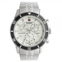 Buy Swiss Military 06-5183-04-001-07 Swiss Flagship Chronograph White Stainless Steel Gents Watch online