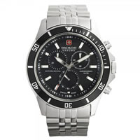 Buy Swiss Military 06-5183-04-007 Swiss Flagship Chronograph Black Stainless Steel Gents Watch online