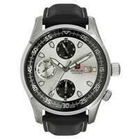 Buy Swiss Military 06-4192-04-001 Swiss Discovery Multifunctional Black Leather Gents Watch online