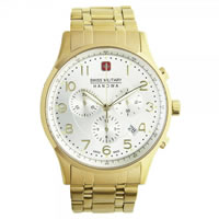 Buy Swiss Military 06-5187-02-001 Patriot Chronograph Gold Tone Gents Watch online