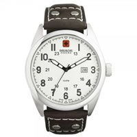 Buy Swiss Military 06-4181-04-001 Swiss Sergeant Genuine Brown leather Gents Watch online