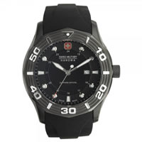 Buy Swiss Military 06-4170-13-007 Swiss Oceanic Black Silicone Gents Watch online