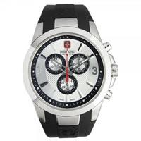 Buy Swiss Military 06-4169-04-001 Predator Chronograph Black PU strap Gents Watch online