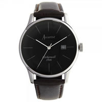 Buy Accurist Watches Brown leather Gents Vintage Watch MS734B online