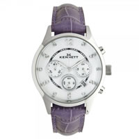 Buy Kennett Watches LWSAVWHSILPU Ladies Savro Silver & Purple Watch online
