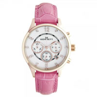 Buy Kennett Watches LWSAVWHGOLPK Ladies Savro Gold Tone & Hot Pink Watch online
