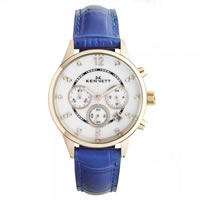 Buy Kennett Watches LWSAVWHGOLPK Ladies Savro Gold Tone & Blue Watch online