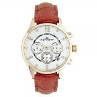 Buy Kennett Watches LWSAVWHGOLRD Ladies Savro Gold Tone & Red Watch online