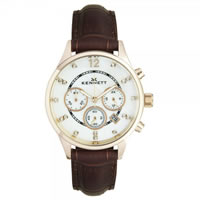 Buy Kennett Watches LWSAVWHGOLBR Ladies Savro Gold Tone & Brown Watch online