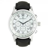 Buy Kennett Watches WSAVSILWHBK Gents Savro White & Black Watch online