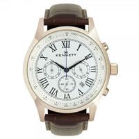 Buy Kennett Watches WSAVGOLWHBR Gents Savro Gold Tone & Brown Watch online