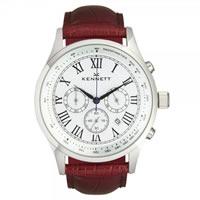 Buy Kennett Watches WSAVSILWHBR Gents Savro Silver & Brown Watch online