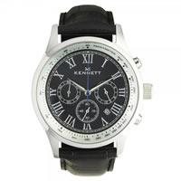 Buy Kennett Watches WSAVBKSILBK Gents Savro Silver & Black Watch online