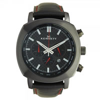Buy Kennett Watches WCHABKCFBK Gents Challanger Black Carbon Black Watch online