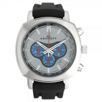 Buy Kennett Watches WCHABKCFBK Gents Challanger Silver & Black Chronograph Watch online