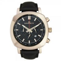Buy Kennett Watches WCHAROCFBL Gents Challanger Rose Gold & Black Chronograph Watch online