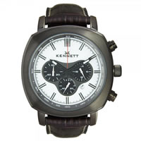 Buy Kennett Watches WCHABKWHBK Gents Challanger Black & White Chronograph Watch online