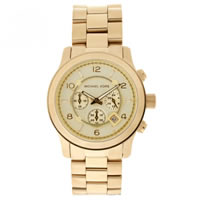 Buy Michael Kors Watches Gents Chronograph Gold Watch MK8077 online