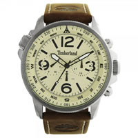Buy Timberland Watches 13910JS-07 Campton Mens Beige Leather Watch online