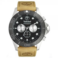 Buy Timberland Watches 13909JSTB-02 Northfield Mens Beige Leather Chronograph Watch online