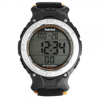 Buy Timberland Watches 13551JPBS-04 Ossipee Mens Orange & Black Nylon Strap Watch online