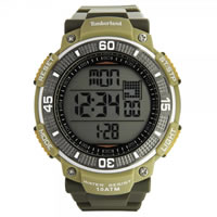 Buy Timberland Watches 13554JPGNU-04 Cadion Mens Green Rubber Strap Watch online