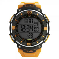 Buy Timberland Watches 13554JPB-04A Cadion Mens Orange Rubber Strap Watch online