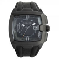 Buy Police Watches 13895JSB-02 Commander, Black Leather, IP Black Watch online