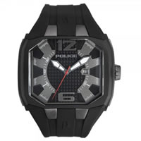 Buy Police Watches PL13889JPBU-61 Detonator Mens Black Rubber Watch online
