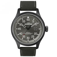 Buy Timex Watches Black leather strap Gents Expedition Military Field Watch T49877SU online