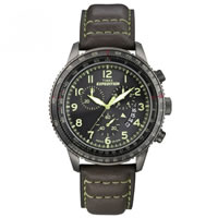 Buy Timex Watches Brown leather strap Gents Expedition Military Field Chronograph Watch T49895SU online
