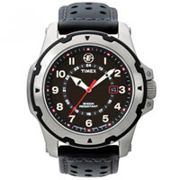 Buy Timex Watches Black Leather Strap Gents Expedition Rugged Watch T49625SU online