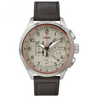 Buy Timex Watches Brown leather Gents Intelligent Quartz Chronograph Watch T2P275 online