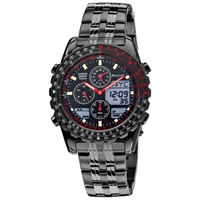 Buy Accurist Watches Ion Plated Stainless Steel Gents World Timer Chronograph Watch MB776B online