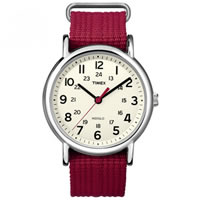 Buy Timex Watches Red Nylon Strap Unisex Classics Camper Watch T2N751 online