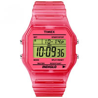 Buy Timex Watches Pink Silicone Strap Unisex Classic Digital Watch T2N805 online