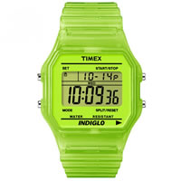 Buy Timex Watches Green Silicone Strap Unisex Classic Digital Watch T2N806 online