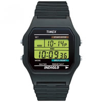 Buy Timex Watches Black Silicone Strap Unisex Classic Digital Watch T75961 online