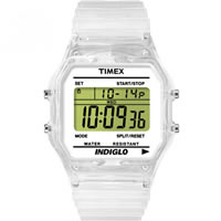 Buy Timex Watches Transparent Silicone Strap Unisex Classic Digital Watch T2N803 online