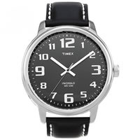 Buy Timex Watches Black Leather Stainless Steel Gents Easy Reader Watch T28071 online