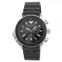 Buy Armani Watches AR0547 Black & Stainless Chronograph Mens Designer Watch online