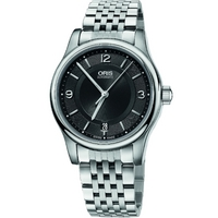 Buy Oris Gents Silver Tone Bracelet Watch 73375784034MB online