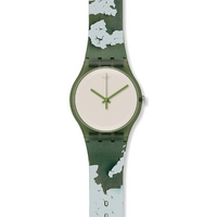Buy Swatch Ladies Rough Green Watch SUOG105 online