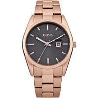 Buy Oasis Ladies Rose Gold Tone Bracelet Watch B1369 online