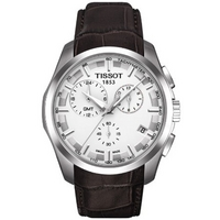 Buy Tissot Gents T Trend Brown Leather Strap Watch T035.439.16.031.00 online
