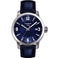 Buy Tissot Gents T Sport Blue Leather Strap Watch T055.410.16.047.00 online
