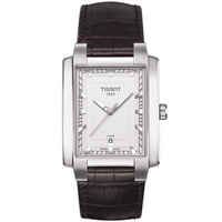 Buy Tissot Gents T-Trend Brown Leather Strap Watch T061.510.16.031.00 online